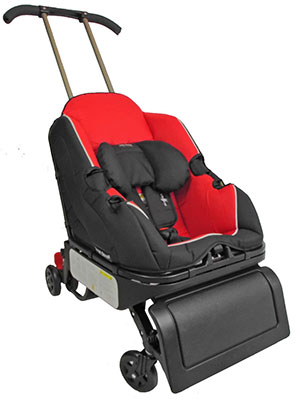 car seat and a stroller